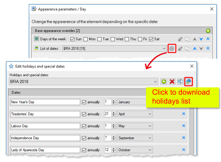 ReproScripts calendars ~  managing holidays and special dates