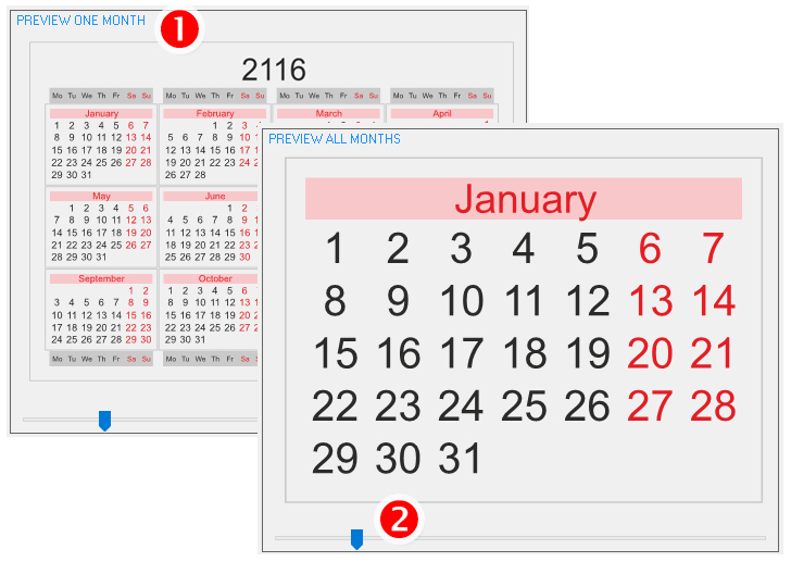 ReproScripts Annual calendars ~ scalable preview
