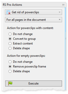 ReproScripts Pro Page Tools - removing PowerClips